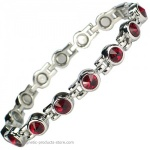 MPS� TENNIS Deep Red Magnetic Bracelet with Crystals