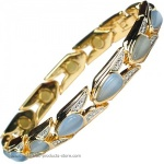 MPS� VITIM Aquamarine Magnetic Bracelet with Gem Stones