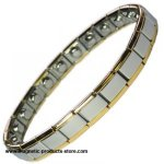 IonTopia� COBRA Expanding Stainless Steel  Magnetic Bracelet - NARROW