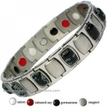 MPS� MEN'S TARENT Stainless Steel & Germanium Magnetic Bracelet