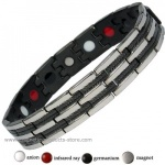 MPS� POSITTANO Stainless Steel & Germanium Magnetic Bracelet