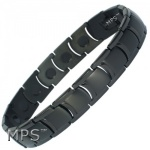 MPS�  MIAMI BLACK Ladies Titanium Magnetic Bracelet