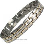 IonTopia� HEETAN GOLD Titanium Magnetic Therapy Bracelet for Men