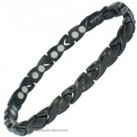 MPS�  ALIOTH B Jet Black Ladies Titanium Magnetic Bracelet