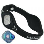 I-BALANCE Power Silicone Wristband Midnight Black