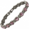 MPS® NORDIA Titanium Magnetic Bracelet for Women with SWAROVSKI® Pink Crystals