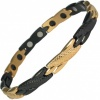 MPS® ADANA Black and Gold Ladies Stainless Steel Magnetic Therapy Bracelet