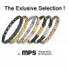 MPS® ADANA Black Silver Ladies Stainless Steel Magnetic Therapy Bracelet