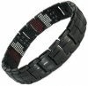 MPS® EUROPE ZOMBIES Repellent Multi Elements Black Titanium Magnetic Bracelet