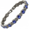 MPS® NORTHIA Titanium Magnetic Bracelet for Women with SWAROVSKI® Deep Blue Crystals
