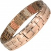 MPS® EUROPE WARLOCK repellent Multi Elements Rose Gold PL Titanium Magnetic Bracelet