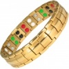 MPS® EUROPE LEPRECHAUN Taming, 5 in 1 Elements GOLD PL Titanium Magnetic Bracelet