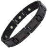 MPS® ECOHO Jet Black Titanium Magnetic Bracelet with Black Carbon Insert