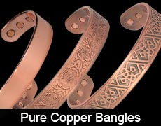 Pure copper magnetic bangles