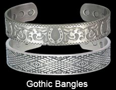 Gothic magnetic bangles