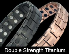 Double strength titanium magnetic bracelets