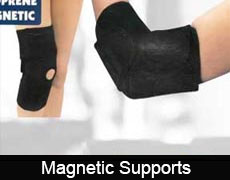 Magnetic therapy supports