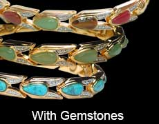Magnetic bracelets for ladies with gemstones