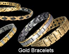 Gold magnetic bracelets