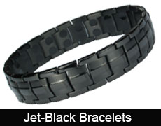Black magnetic bracelets