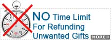 No Time Limit For Refunding Unwanted Gifts