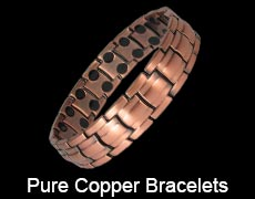 Pure copper magnetic bracelets