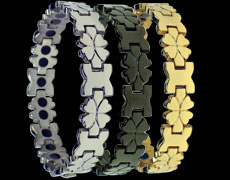 Four leave clover magnetic bracelets
