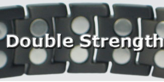 Double strength magnetic bracelets