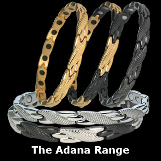 Adana stainless steel magnetic bracelets for women collection