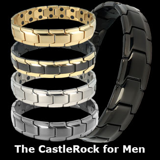 CastleRock titanium magnetic bracelets for men collection