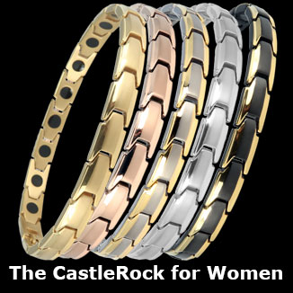 Castlerock for women titanium magnetic bracelets collection