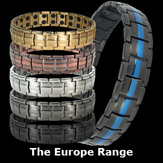 Europe titanium magnetic bracelets for men collection