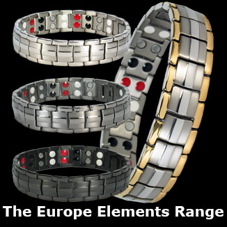 Europe Elements titanium magnetic bracelets collection