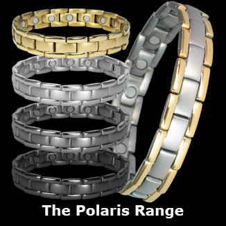 Polaris titanium magnetic bracelets for men collection