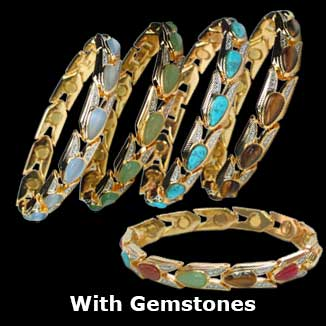 Gemstones magnetic bracelets