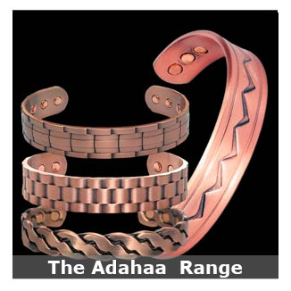 Adahaa copper magnetic bracelets bangle style