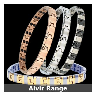 Alvir titanium magnetic bracelets collection for women