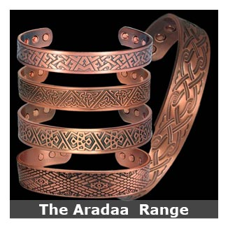 Aradaa Copper magnetic bracelets bangle style