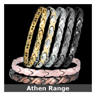 Athen titanium magnetic bracelets for women collection