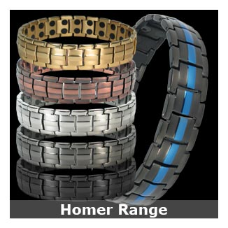 Homer titanium magnetic bracelets for men collection