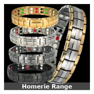 Homerie titanium magnetic bracelets collection