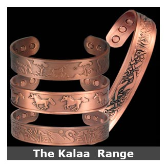 Kalaa copper magnetic bracelets bangle style