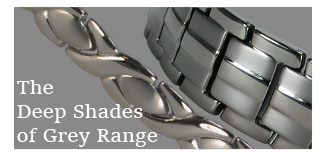 Shades of Grey magnetic bracelets