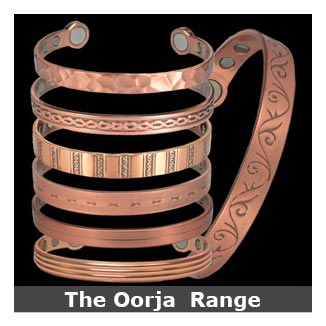 Oorja Copper Magnetic Bracelets Bangle Style