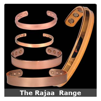 Rajaa plain copper magnetic bracelets bangle style