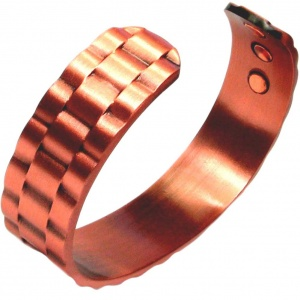 MPS WAVY CHAIN Pure Copper Heavy Magnetic Therapy Bangle