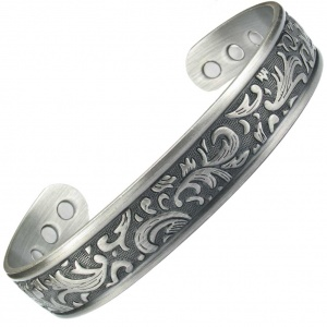 MPS TAMAR Pewter Magnetic Therapy Bangle