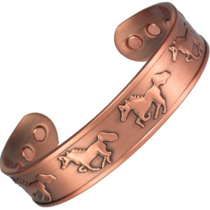 MPS RUNNING HORSES Pure Copper Magnetic Therapy Bangle