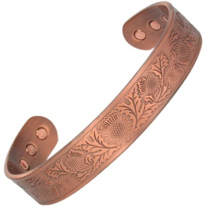 MPS The SCOTTISH THISTLE Pure Copper Magnetic Therapy Bangle