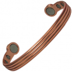MPS® HERO Polished Pure Copper Super Strength Magnetic Bangle / Bracelet